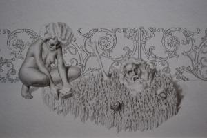 Activación, grafito sobre papel 19 x 25 cm