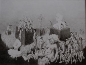 Antes y despues 2, grafito sobre papel 19 x 25 cm (2)